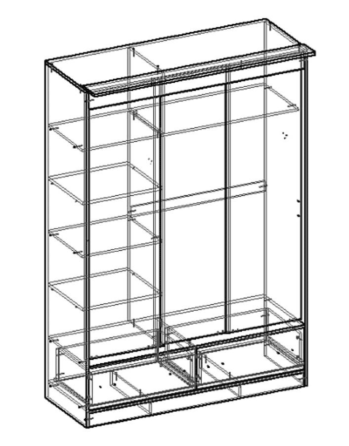 Шкаф-купе 3-х створчатый с